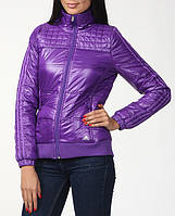 Куртка спортивная женская adidas J 3S Jkt O05274 (сиреневая, весна/осень, воротник стойка, с логотипом адидас)