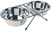 Подставка под миски 1,8 л + 2 миски в комплекте (для собак), Trixie™