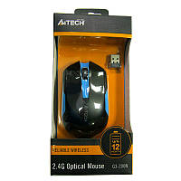 Беспроводная мышка A4Tech G3-200N  Black-Blue,V-TRACK  USB