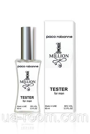 Тестер мужской Paco Rabanne 1 Million, 60 мл., фото 2