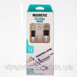 Магнитный кабель для зарядки 2 в 1 Micro-USB, Lightning-USB
