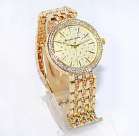Женские часы Michael Kors (Майкл Корс) золотистые со стразами, фото 1