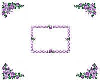 Схема для вышивки бисером  Скатерть Фиолетовые цветы
