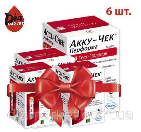 Тест-полоски Акку-Чек Перформа (Accu-Chek Performa) - 6 упаковок по 50шт.