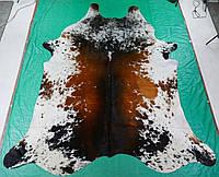 Кожа коровы темно коричневая с белыми вкраплениями, фото 1