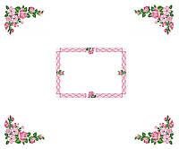 Схема для вышивки бисером Скатерть Розовые цветы