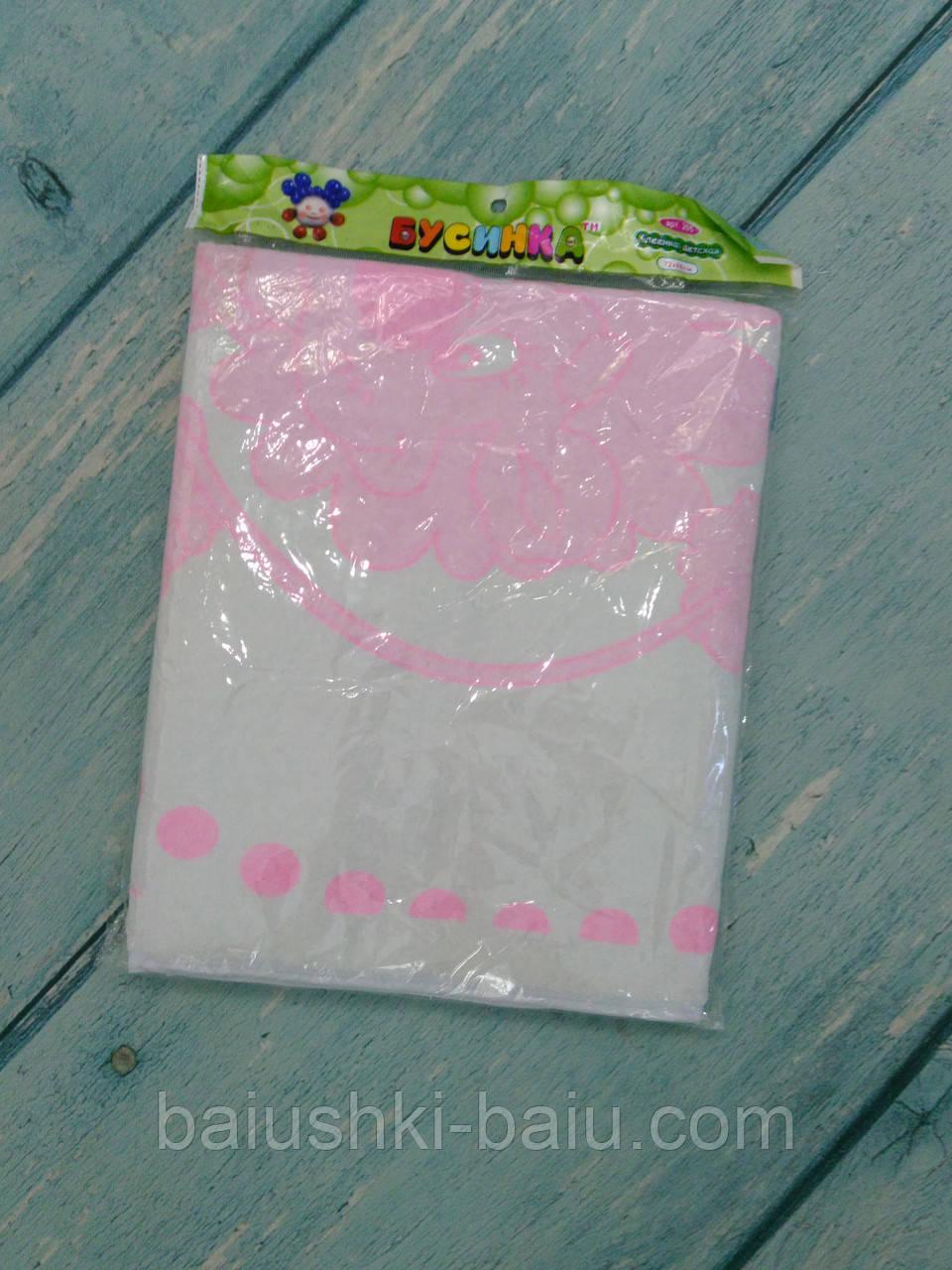 Непромокаемая многоразовая пеленка для новорожденного (махра, ПВХ), 88х72