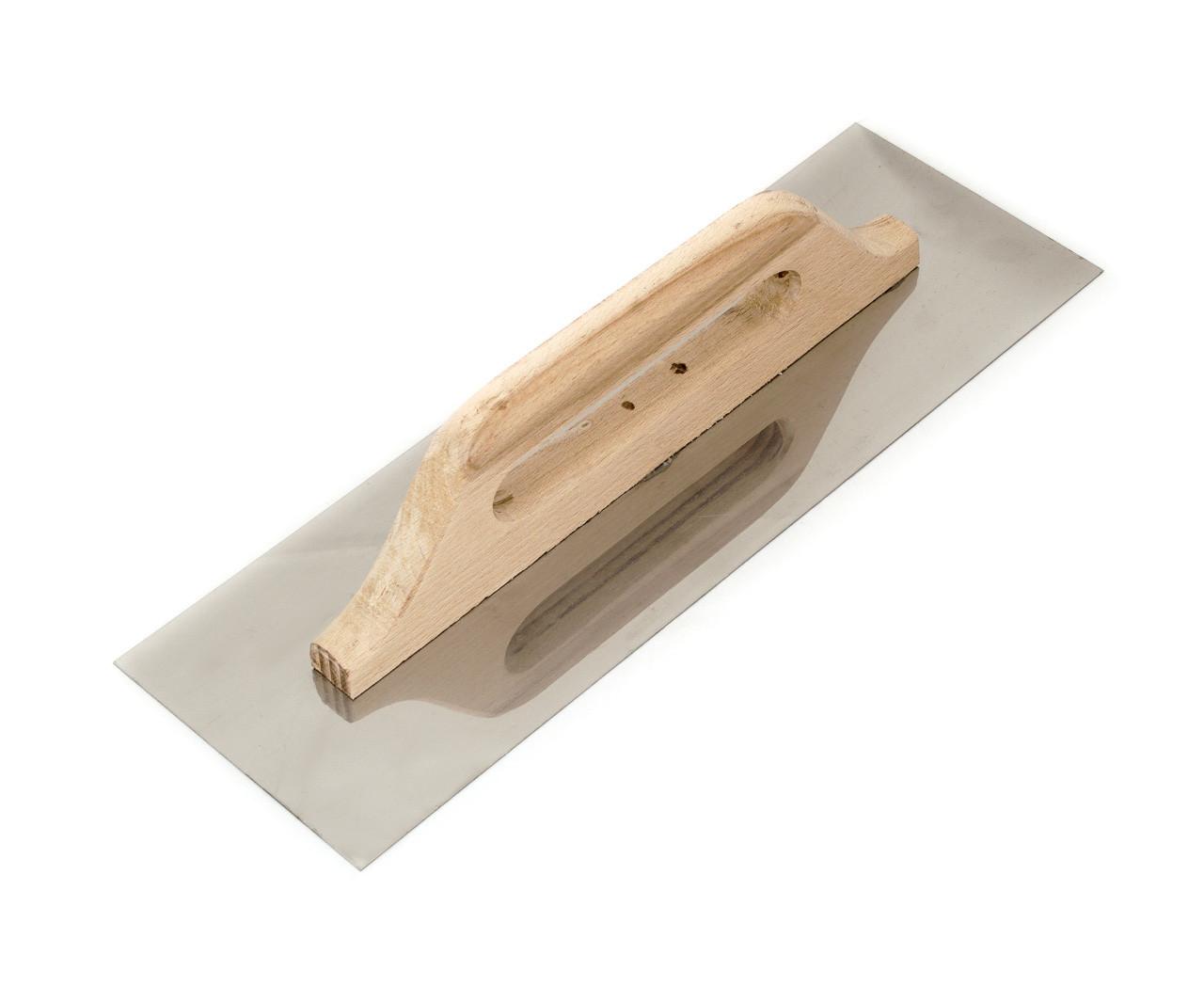Терка нержавеющая Polax гладкая 125 x 380 мм (100-092) деревянная ручка
