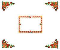 Схема для вышивки бисером Скатерть Красные цветы