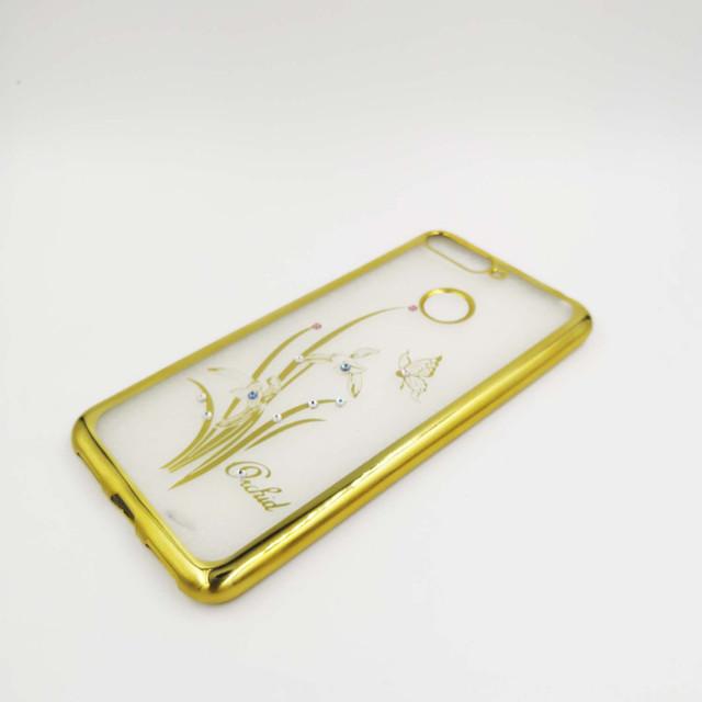 чехол Huawei Honor 7C AUM-l41 силиконовый, Beckberg Breathe seria, Бабочка и орхидея