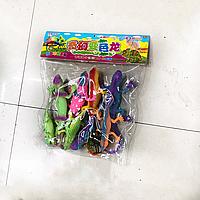Фигурки игровой набор ящериц 8 шт большие, фото 1
