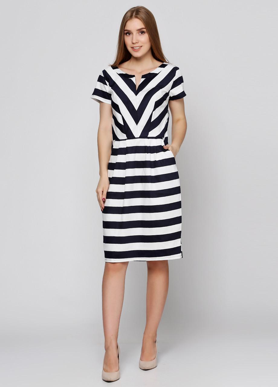 0ba4f26b5de Платье Женское Летнее PL292 Белое с Темно-синим — в Категории