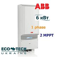 Инвертор ABB солнечный, сетевой PVI-6000-TL-OUTD-S (6кВт, 1 фаза, 2 трекера), фото 1