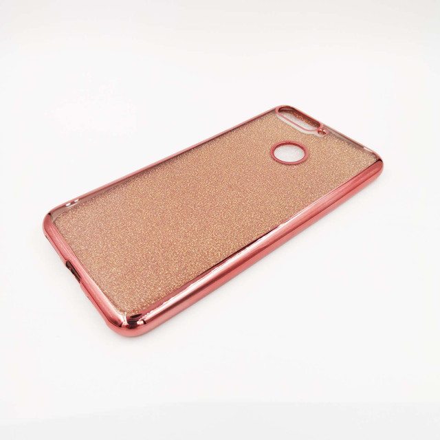 чехол Huawei Honor 7C AUM-l41 силиконовый, Remax Case GLITTER розовый