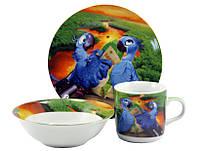 Детский набор посуды Рио попугаи 512
