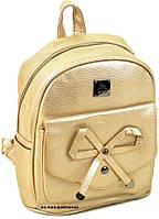 Кожаный женский портфель золото 23*21*13. Модная женская сумка Alex Rai. Детский портфель. ЖС09-1, фото 1