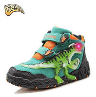 Светящиеся детские замшевые 3D ботинки «Dinosoles» T-REX turquoise-green 6cb33d1e416e8