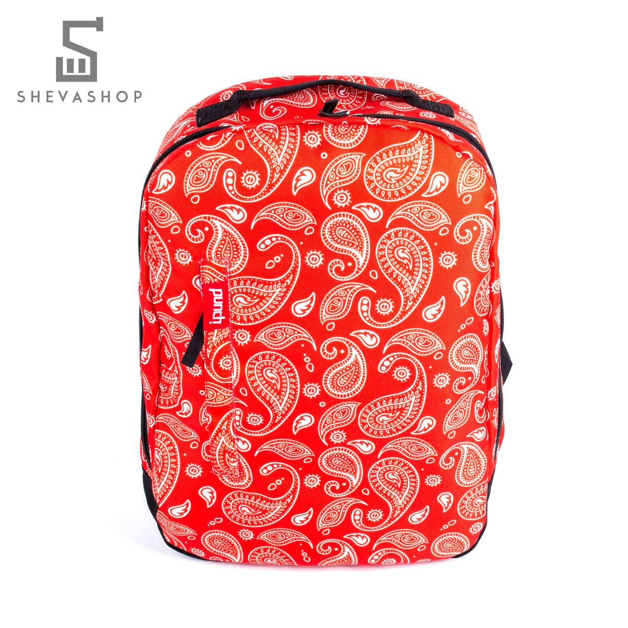 Рюкзак Punch Buzz paisley красный