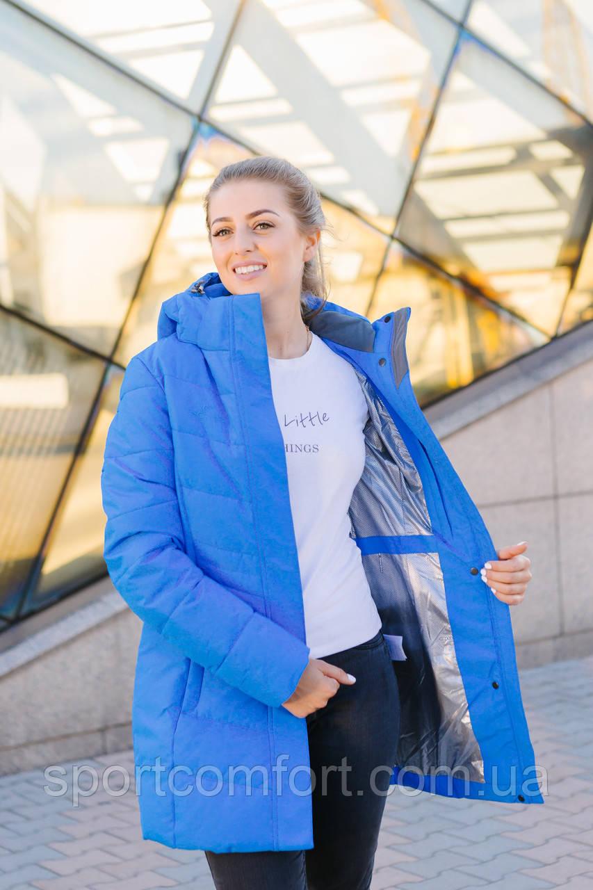 Женская куртка голубая FREEVER 8435