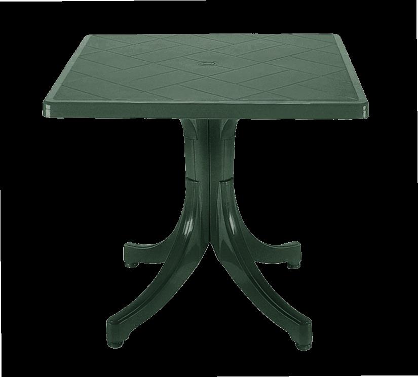 Стіл квадратний Papatya Фаворит 80x80 зелений
