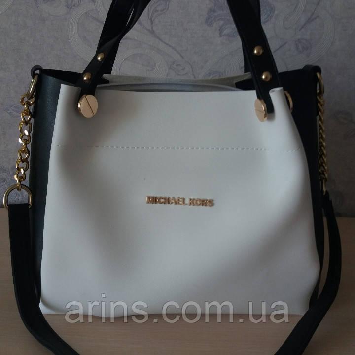 76b62590cb3f Классическая женская сумка Michael kors бело-черная  продажа, цена в ...