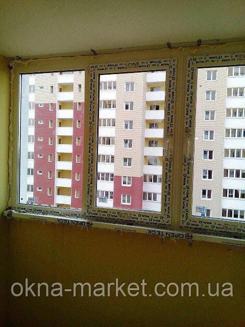 Остекление лоджии окнами WDS Киев на ул. Данченко 3