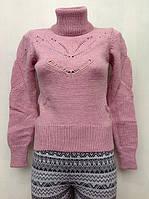 Вязаный свитер на девочку 152 роста Ажурное колье