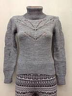 Вязаный свитер для девочек Ажур