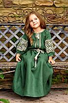 Детское вышитое платье из натурального льна