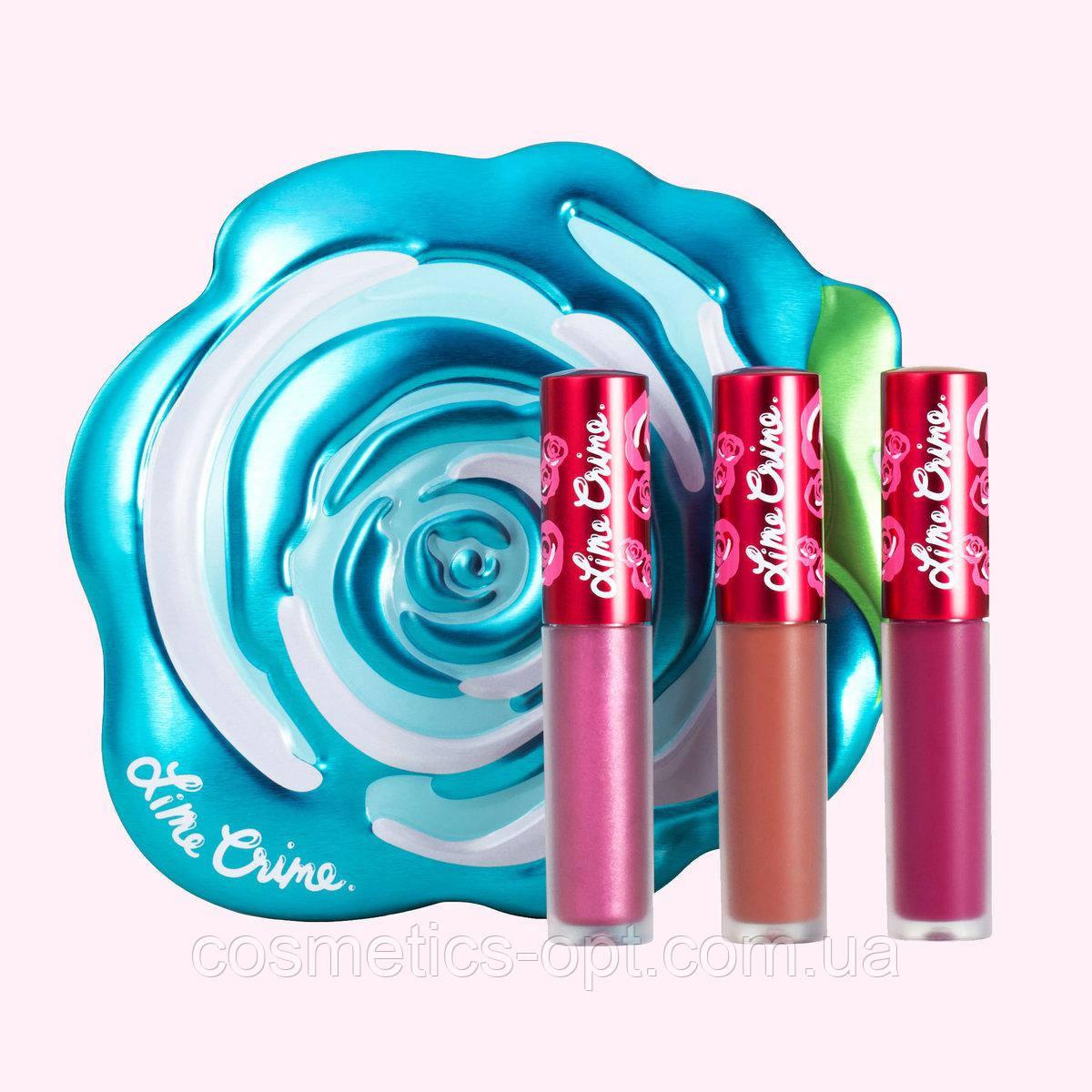 Жидкая помада Lime Crime Velve-Tins Blue Rose (реплика)