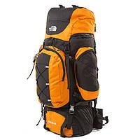 Туристический рюкзак North Face Extreme 80 литров черно-оранжевый, фото 1