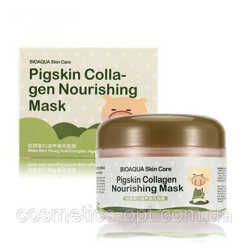 Маска для лица коллагеновая Bioaqua Pigskin Collagen Nourishing Mask