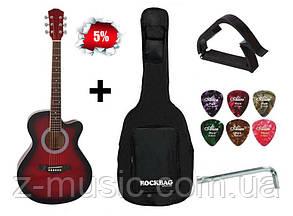 Гитара акустическая IRIN (Чехол+Каподастр+Медиатор+Ключ) Красный