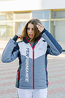Женская горнолыжная куртка серая