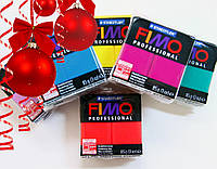 Большой подарочный набор для лепки: 5 цветов Фимо Профессионал+лак+кисть+дотс