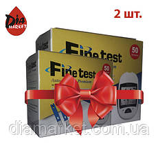 Тест-полоски Finetest Premium 2 упаковки по 50шт.