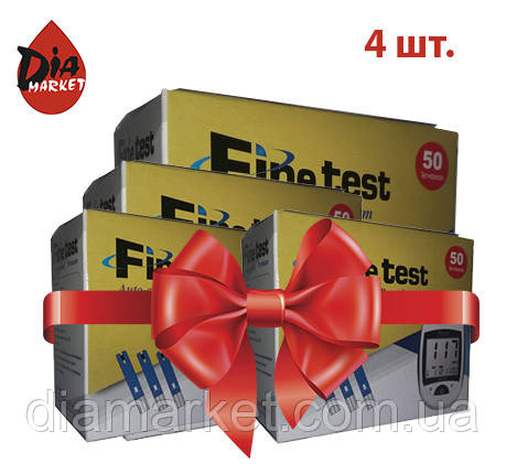 "Тест-полоски ""Fine test Auto-coding Premium"" 4 упаковки по 50шт."