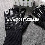 Перчатки термостойкие для BBQ GLOVES HEAT RESISTANT жаростойкие, фото 5