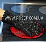 Перчатки термостойкие для BBQ GLOVES HEAT RESISTANT жаростойкие, фото 3