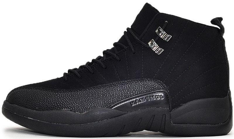 """Баскетбольные кроссовки Nike Air Jordan 12 """"Black"""" (Найк Аир Джордан) черные"""
