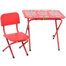 Детская парта со стульчиком Ommi Optima (красная) Омми Оптима
