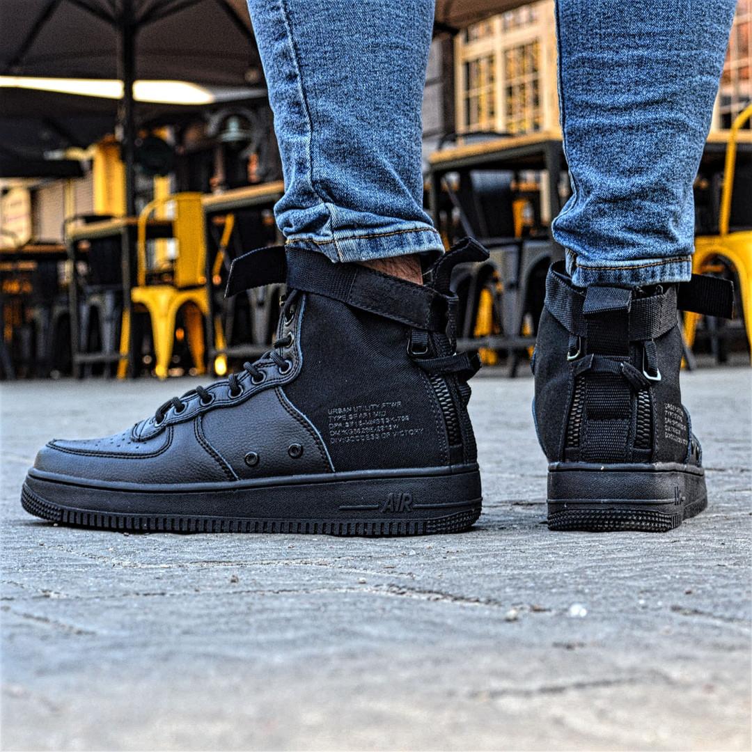 newest 5b905 b8e86 Nike Air Force 1 Special Field Mid Tiger Black | мужские кроссовки;  кожаные; черные