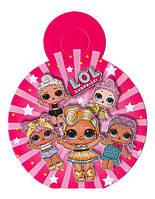 """Медали картонные куклы """"L.O.L"""". В упак: 10 шт. Диаметр: 75 мм. малиновые"""