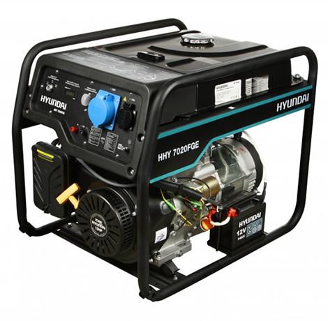 Генератор газобензиновый Hyundai HHY 7020FGE (5,5 кВт)