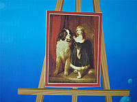 Набор картины по номерам Девочка с сенбернаром