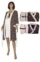 NEW! Теплые комплекты с халатом для беременных и кормящих серии Gold Soft Venzel Brown ТМ УКРТРИКОТАЖ!
