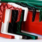 Крюк-крепление для балконных ящиков терракотового цвета