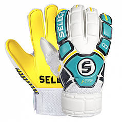 Вратарские перчатки Select Goalkeeper Gloves 03 Youth (601030-437) White/Yellow