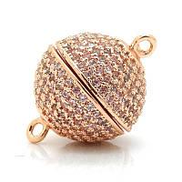 Замочек магнитный,12мм розовое золото