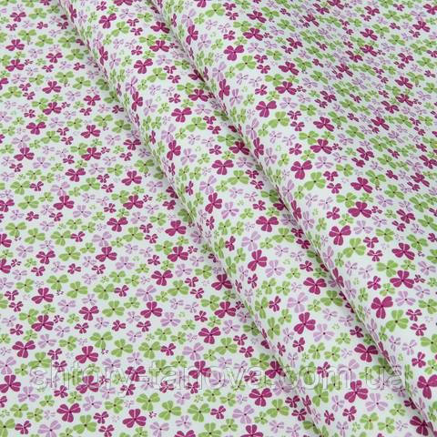 Экокоттон, клевер, розово-зелёный
